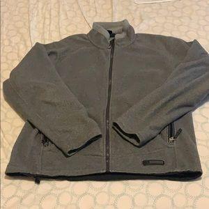Rei jacket men's size large grey zip up fleece